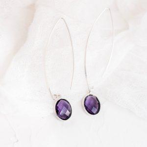 Gemstone Handmade Sterling Silver Earrings